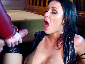 Sexy Patty Michova lets the superhero penetrate her taut beaver