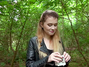 One of the city's kinkiest ladies visits the forest and gets banged