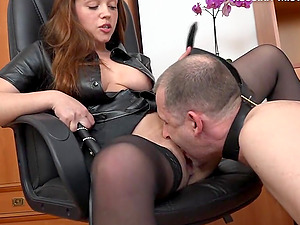 Big-titted senorita Tiffany determines to penalize her spineless accomplice