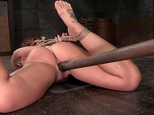Fuck stick fucks deep into sexy tied up woman Savannah Fox