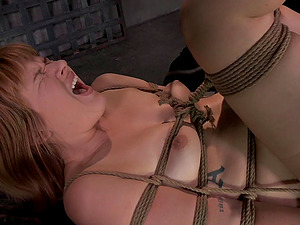 Scanty Claire Robbins has never been in such a rough restrain bondage session