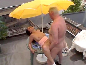 Mature Man Fucks A Nubile.