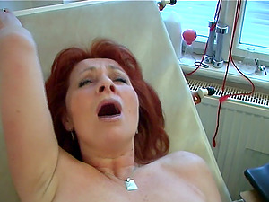 Horny matured dame reaching orgasm after throbbed xxx