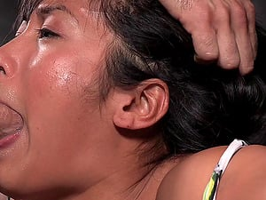 Huge-chested Asian looker Mia Li gets tied up and fucked hard
