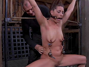 Beautiful Cici Rhodes and a rough night in the scary hook-up basement