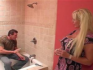 Cougar with big tits gets facial cumshot cum shot after xxx ravish