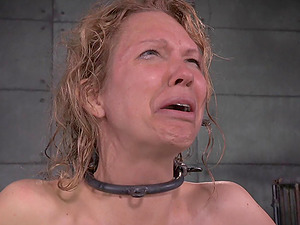 Victim woman with a big tattoo luvs perceiving fine ache