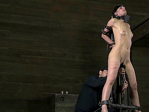 Elise's severe naughtiness is going to be penalized in the dungeon space