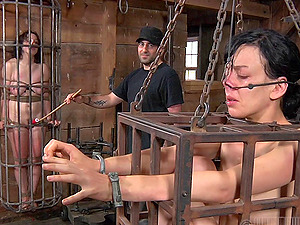 Alluring restrain bondage dame refined with face fucking in Sadism & masochism pornography