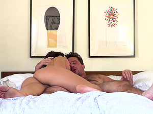 Bombastic Abella Danger sweats and squeals during the hard pounding