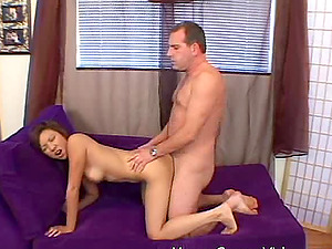 Asian lady seduced by a man who hankers her hot figure