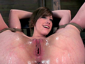 Beautiful Jennifer Milky getting some stimulations in the basement