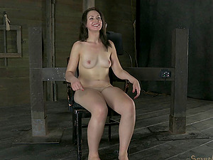 Adorable Sarah Shevon getting a special treatment for her tits and cunt