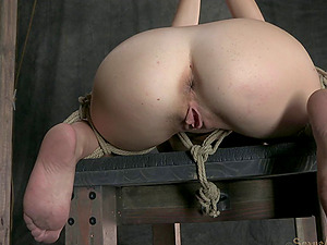 Naught chick penalized by being fucked with a stiff faux-cock