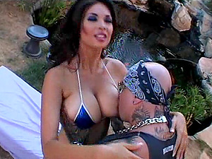 Asian sex industry star with big tits in bathing suit getting rough deepthroat smashing