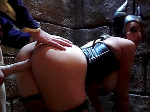 Parody shoot of faux tits honey withstanding big shaft gonzo