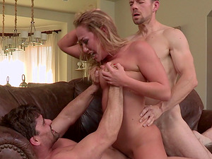 Eatable hot butt curvy blonde lovin? Double penetration till orgasm