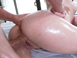 Oiled chick lovin? each inch of the hard-on of her newest paramour