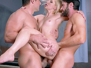 Pallid senorita letting the pals poke her with their erections