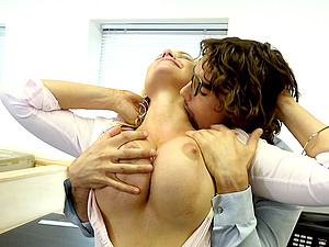 Alena Croft is a crazy office employee who likes fucking hard