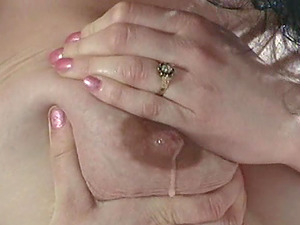 Two big-breasted knocked up chicks having kinky girly-girl act