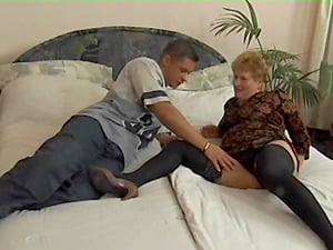 Mature woman's fuckholes plowed by a hook-up longing stallion