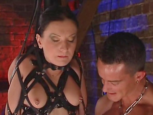 Horny friends have a supreme time while participating in a Domination & submission game