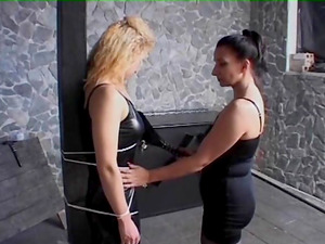 Painful Domination & submission treatment that makes a blonde marionette pleased