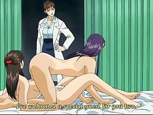 Man witnesses on CCTV two lesbos having romp Anime porn