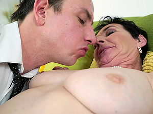 Mature woman Fairy opens her gams for an erected prick