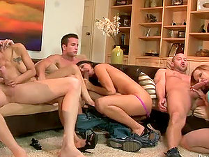 Two neighboring couples fucking and switching counterparts