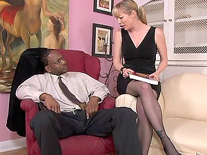 Sexy Adrianna Nicole getting fucked by a lewd black fellow