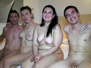 Remarkable group sex with amateurs Clara Naz and Carla