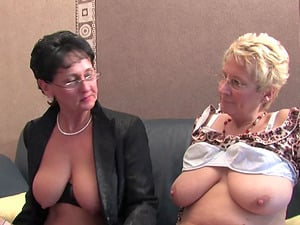Hardcore foursome session with mature dick craving chicks
