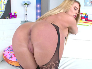 Corinna Blake chokes on a cock before being fucked up her butt