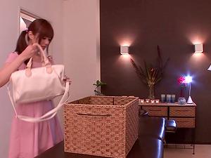 Nice ass Rina Rukawa in thong fingered while she moans