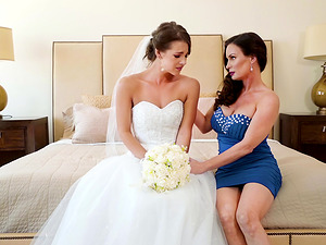 Bride in a threeway with Diamond Foxx, Evelin Stone and Robby Echo