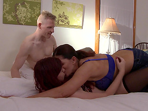 Magdalene St. Michaels and Chelsea Poe seduce a guy for a sex session