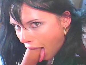Brown-haired stunner Jennifer Dark gets her snatch drilled from behind