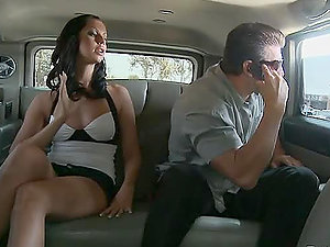 Larissa Dee gets her labia drilled at the backseat of a limo