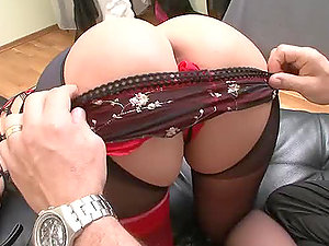 A blonde and a dark haired get their ass-holes fingerblasted and drilled