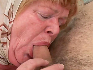 Old lady Alice bj's that old fart's dick and gets banged