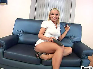Smoking hot blondie Oliver Strelly gets banged buttfuck