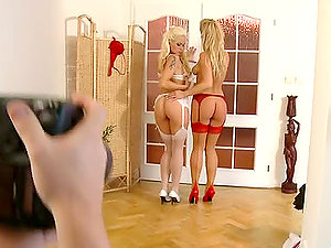 Two smoking hot ash-blonde stunners Silvia and Stacy are going girly-girl