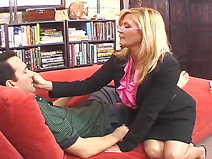 Mature blonde lady Ginger Lynn gets fucked by Dino Bravo