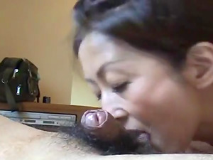 Asian deepthroat blowjob japanese mature