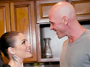 Kissa Sins and Anya Olsen enjoy sharing a hunk's big cock