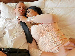 Chanel Santini is a stunning shemale who cannot refuse a fuck