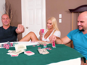 Although Vanessa Cage lost a game of poker she won two big dicks