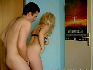 Mildly chubby blonde bend over doggy on webcam